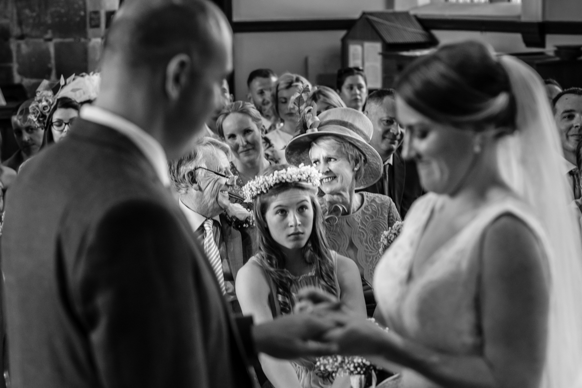 emotional parents looking at doughter getting married
