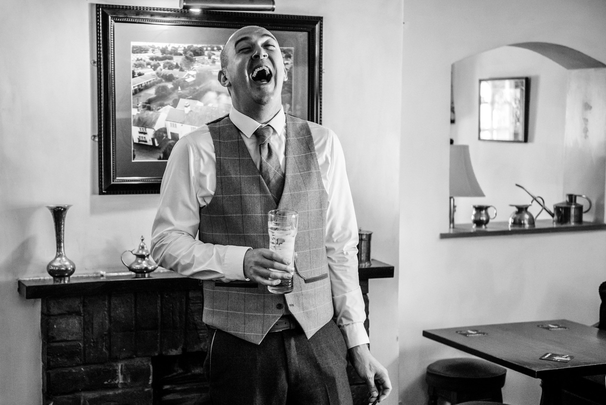 Groom at red Lion pub Knutsford