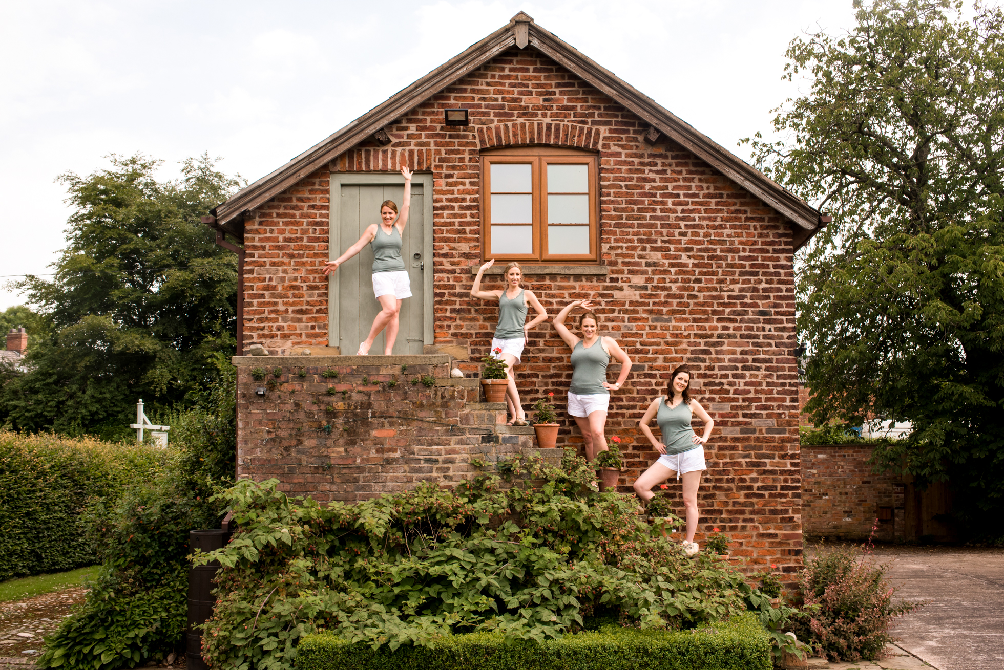 Bridesmaids at Holfor estate in Cheshire
