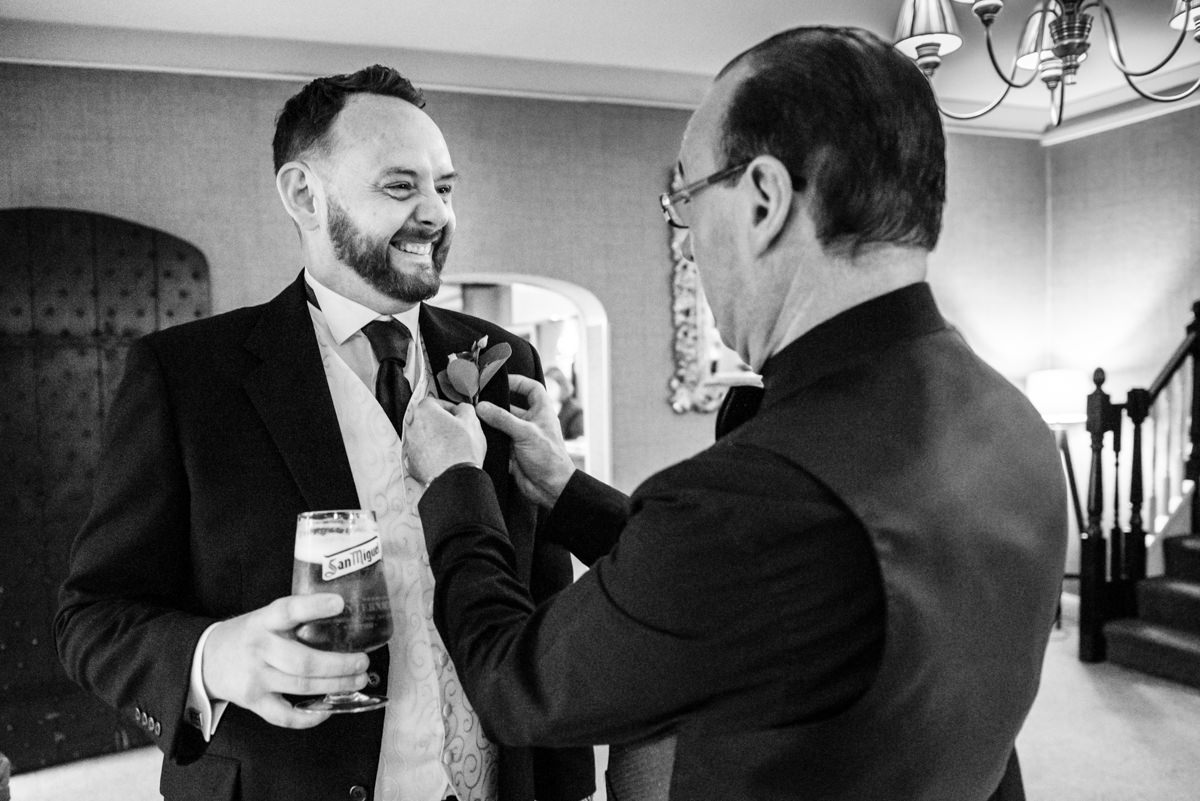 Groom Getting Ready, lancashire